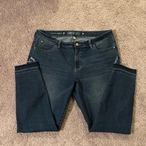 Skinny jeans by Jennifer Lopez, frayed edges